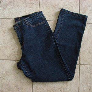 NYDJ High Rise Boot Cut Dark Wash Tummy Tuck Jeans